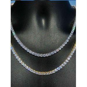 Harlembling Sterling Silver Diamond 925 5mm Chain